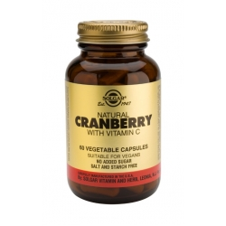 Solgar Cranberry Extract with Vitamin C vegetal caps