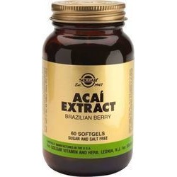 Solgar Acai Extract softgels Brazilian Berry 60 softgels