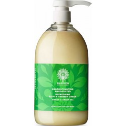 Garden of Panthenols Refreshing Bath & Shower Cream Ginger & Green Tea Αναζωογονητικό Αφρόλουτρο 1Lt